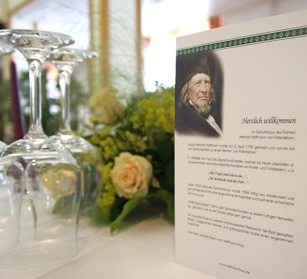Hoffmannhaus | Hotel-Restaurant | Fallersleben | Hoffmann von Fallersleben
